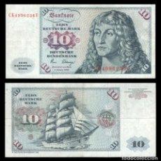 Billetes extranjeros: ALEMANIA 10 MARCOS 1980 PIK 31 D MBC. Lote 277266708