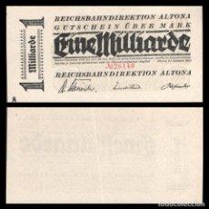 Billetes extranjeros: ALEMANIA 1000000 DE MARCOS 1923 NOTGELD/ALTONA S/C. Lote 277268333