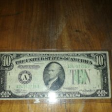 "Billetes extranjeros: BILLETE 10 DÓLARES SERIE ""A"" USA ESCASO. Lote 277305088"