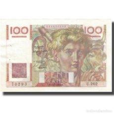 Billetes extranjeros: [#626619] FRANCIA, 100 FRANCS, JEUNE PAYSAN, 1948, 1948-07-15, EBC, FAYETTE:28.19, KM:128B. Lote 277306473