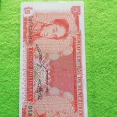 Billetes extranjeros: BILLETES DEL MUNDO SIN CIRCULAR. 5 BOLÍVARES. Lote 277419833