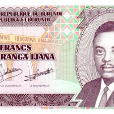 Billetes extranjeros: BILLETE DE BURUNDI DE 100 FRANCOS EN PERFECTO ESTADO. Lote 277420843