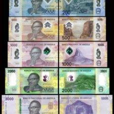 Billetes extranjeros: ANGOLA FULL SET 5 PCS 200 500 1000 2000 5000 KWANZAS 2020 PICK NEW SC / UNC. Lote 278349693