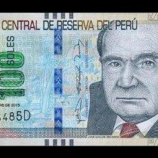 Billetes extranjeros: PERÚ 100 SOLES 2015 PICK 195 SC UNC. Lote 278350403