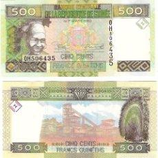 Billetes extranjeros: GUINEA 500 FRANCS 2015 P 47 UNC. Lote 278351543