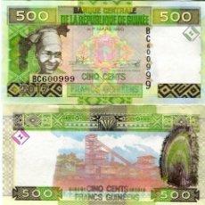 Billetes extranjeros: GUINEA 500 FRANCS 2017 P 47 UNC. Lote 278351583