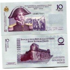Billetes extranjeros: HAITI 10 GOURDES 2016 P 272G UNC. Lote 278353153