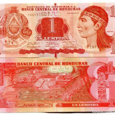 Billetes extranjeros: HONDURAS 1 LEMPIRA 2014 P 96B UNC. Lote 278353228