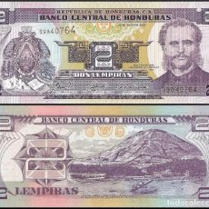 Billetes extranjeros: HONDURAS 2 LEMPIRAS 2014 P 97B UNC. Lote 278353298