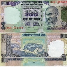 Billetes extranjeros: INDIA 100 RUPEES 2009 P 98T SIGN D. SUBBARAO UNC. Lote 278437168