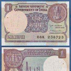 Billetes extranjeros: INDIA 1 RUPEE 1983-1994 P 78A UNC. Lote 278437253