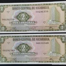 Billetes extranjeros: NICARAGUA 2 CÓRDOBAS 1972. Lote 280359538