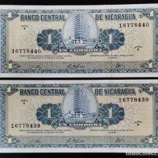 Billetes extranjeros: NICARAGUA 1 CÓRDOBA 1968. Lote 280359713