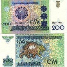Billetes extranjeros: UZBEKISTAN. 200 SUM 1997. S/C. PICK 80. Lote 293894528