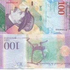 Billetes extranjeros: BILLETE DE VENEZUELA 100 BOLIVARES 2018 SC. Lote 285505603
