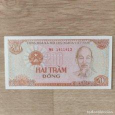 Billetes extranjeros: BILLETE VIETNAM 200 DONG 1987 PLANCHA UNC P-100C. Lote 286163318