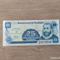 Billetes extranjeros: NICARAGUA 25 CENTAVOS DE CORDOBA 1991 - PICK 170A.2 - SIN CIRCULAR - SERIE A/D. Lote 286886088