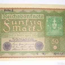 Billetes extranjeros: BILLETE 50 REICHSBANKNOTE 1919 / SC- EBC ALEMANIA. Lote 287049253