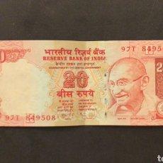 Notas Internacionais: BILLETE DE INDIA INDIA 20 RUPIAS. Lote 287088658