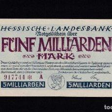 Billets internationaux: ALEMANIA - 5.000.000.000 MARCOS DE 1923 - VER FOTO. Lote 287228433