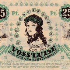 Billetes extranjeros: ALEMANIA - 25 PFENNIG DE 1921 - VER FOTO. Lote 287237603