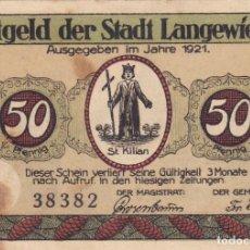 Billetes extranjeros: ALEMANIA - 50 PFENNIG DE 1921 -VER FOTO. Lote 287351843