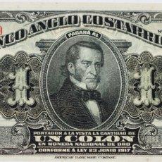 Billetes extranjeros: EL BANCO ANGLO COSTARRICENSE. Lote 287568063