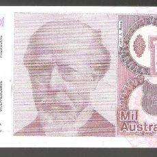 Billetes extranjeros: 1 BILLETE DE ARGENTINA 1000 AUSTRALES 1989 SIN CIRCULAR. Lote 287621398