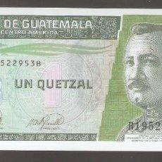 Billetes extranjeros: 1 BILLETE GUATEMALA 1 QUETZAL JOSÉ MARÍA ORELLANA 2006 POLÍMERO SC UNC. Lote 287644603