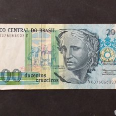 Billetes extranjeros: BILLETE 200 CRUCEIROS BRASIL. Lote 287675733