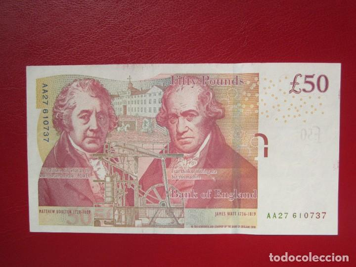 Billetes extranjeros: BILLETES DE 50 LIBRAS 2010 PICK 393 S/C - Foto 2 - 287678463
