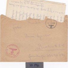 Billetes extranjeros: ALEMANIA - 10 PFENNIG + CORREO DE CAMPAÑA 1939 - 2ª GUERRA MUNDIAL. Lote 287688163
