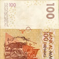 Billetes extranjeros: 100 DIRHAMS MARRUECOS. Lote 287821598