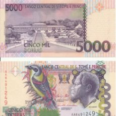 Billetes extranjeros: SAINT THOMAS & PRINCE 5000 5,000 DOBRAS 2013 P 65 UNC. Lote 287899563