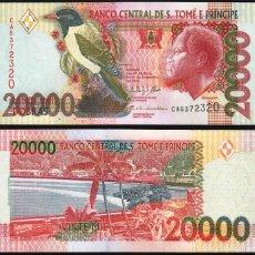 Billetes extranjeros: SAINT THOMAS & PRINCE 20000 20,000 DOBRAS 2013 P 67E UNC. Lote 287899668