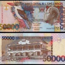 Billetes extranjeros: SAINT THOMAS & PRINCE 50000 50,000 DOBRAS 1996 P 68A UNC. Lote 287899778