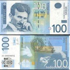 Billetes extranjeros: SERBIA 100 DINARA 2012 P 57A PREFIJO 'AA' UNC. Lote 287902878