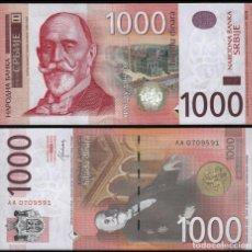 Billetes extranjeros: SERBIA 1000 1,000 DINARA 2014 P 60B UNC. Lote 287903043