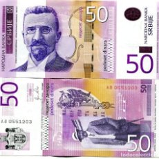 Billetes extranjeros: SERBIA 50 DINARA 2011 P 56A UNC. Lote 287903823