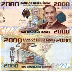 Billetes extranjeros: SIERRA LEONE 2000 2,000 LEONES 2010 P 31 UNC. Lote 287904243