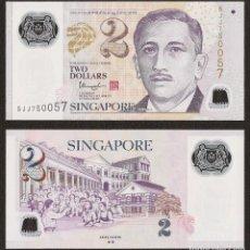 Billetes extranjeros: SINGAPORE 2 DOLLARS 2014-2015 P NEW POLYMER W/2 DIAMONDS UNC. Lote 287904383