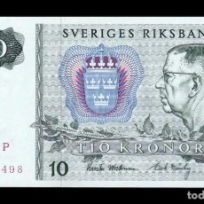 Billetes extranjeros: SUECIA SWEDEN 10 KRONOR 1975 PICK 52C SC UNC. Lote 288073963
