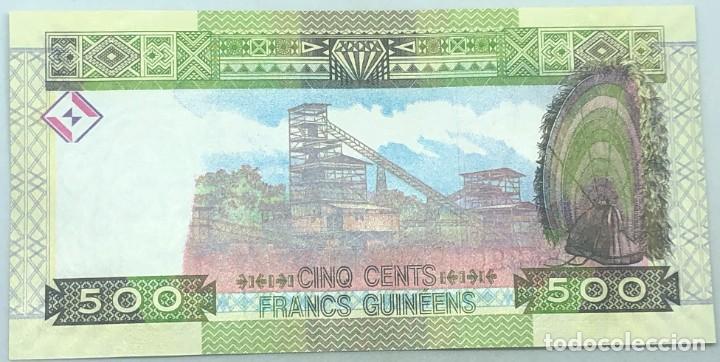 Billetes extranjeros: Billete República de Guinée. Guinea. 2015. 500 Francos. SC. Sin Circular. Posibilidad correlativos - Foto 2 - 288074063
