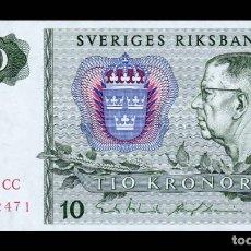 Billetes extranjeros: SUECIA SWEDEN 10 KRONOR 1989 PICK 52E SC UNC. Lote 288149848