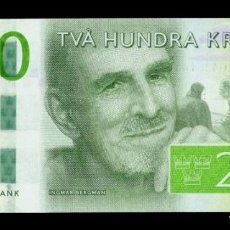 Billetes extranjeros: SUECIA SWEDEN 200 KRONOR INGMAR BERGMAN 2015 PICK 72 SC UNC. Lote 288151643