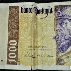 Billetes extranjeros: PORTUGAL 1000 ESCUDOS 1996. PICK 188. Lote 288156493