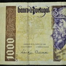 Billetes extranjeros: PORTUGAL 1000 ESCUDOS 1996. PICK 188. Lote 288156803