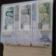 Billetes extranjeros: ALBUM CON COLECCION DE BILLETES DEL MUNDO 325 BILLETES VER FOTOS. Lote 288179128