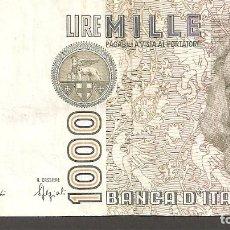 Billetes extranjeros: ITALIA 1.000 LIRAS 1982. Lote 288650528
