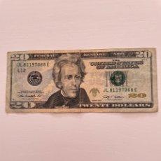 Billetes extranjeros: BILLETE 20 DÓLARES ESTADOUNIDENSES 2009. Lote 288650833